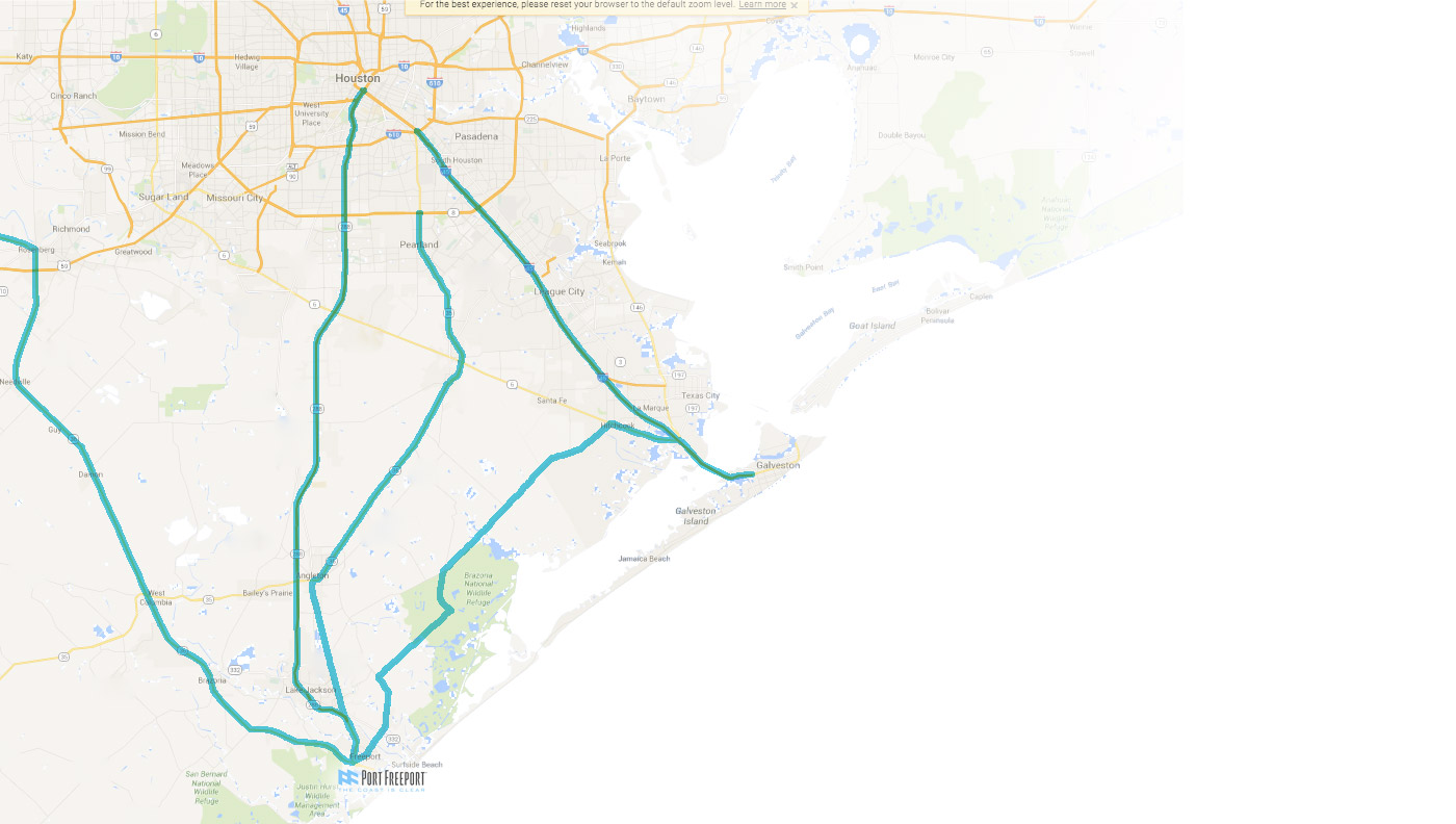 Port Freeport Ports In Texas - Port of houston map