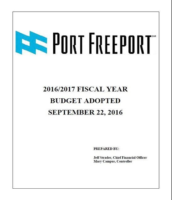 2016-2017 Port Freeport Budget