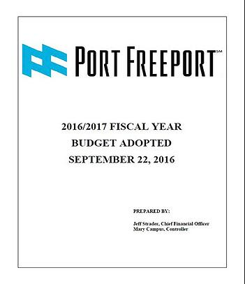 2016-2017 Port Freeport Budget