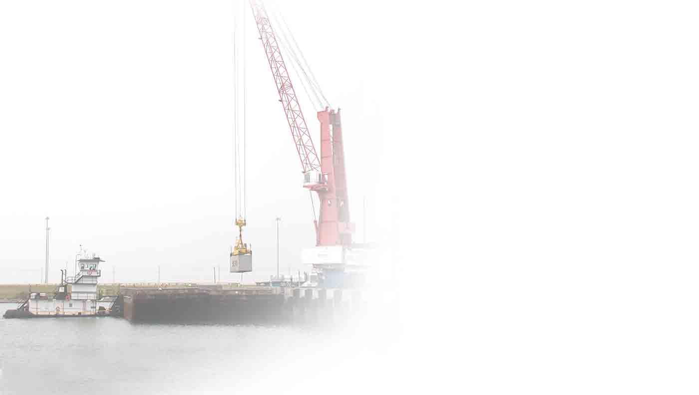 barge cargo transport from port freeport