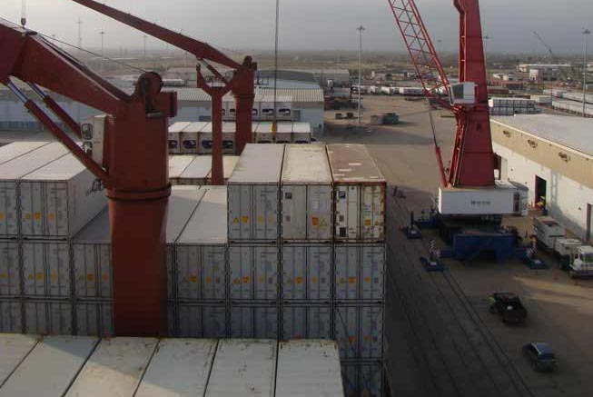 Container Operations at port freeport