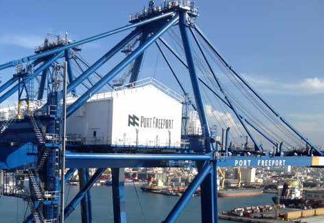 Heavy lift terminal at port freeport