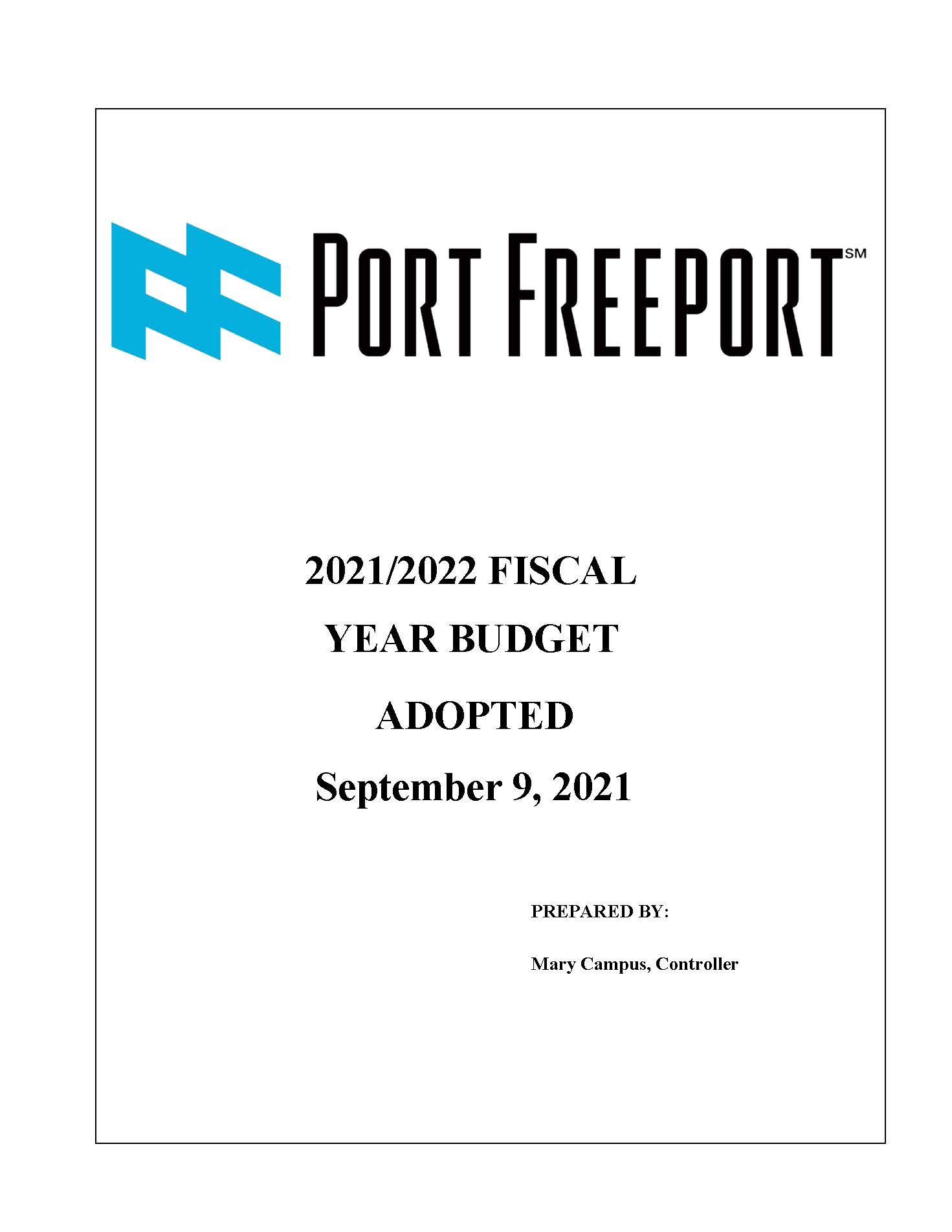 2022 Budget Adopted 9.9.21 cover page_Page_01