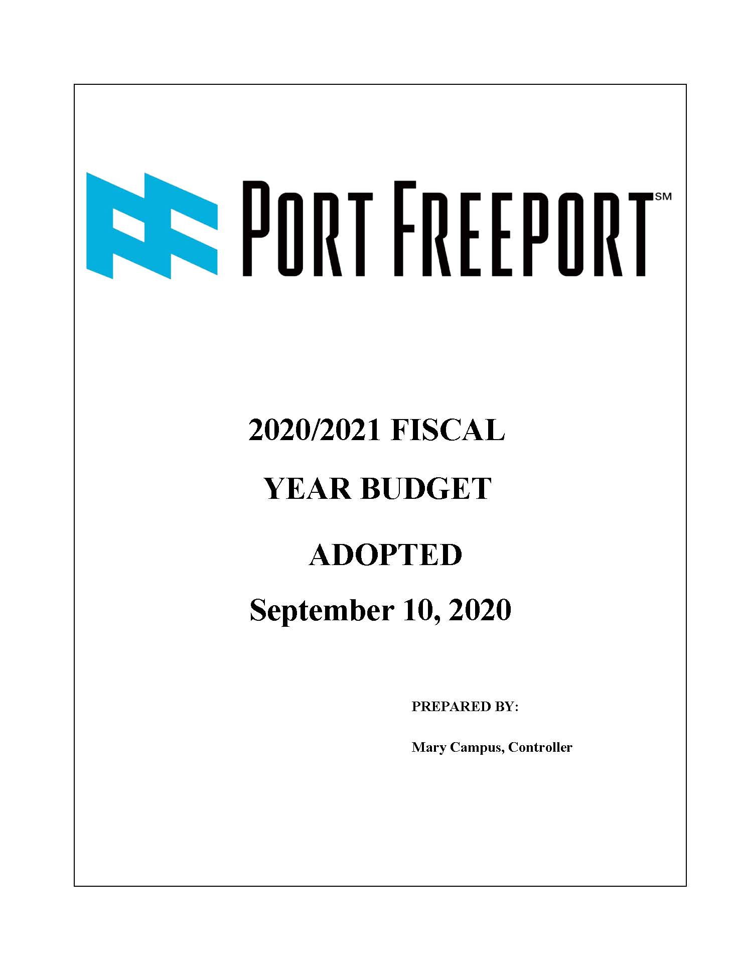 Fiscal Year 2021 Budget